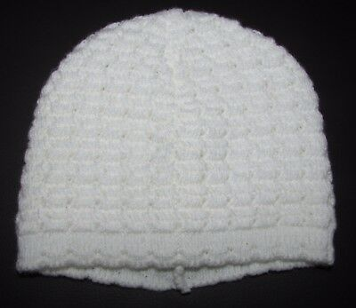 New Baby Unisex Hat Beanie White New Born & 0-3 Months