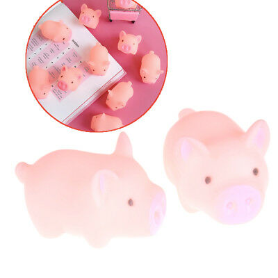 2pcs Mini Pink Pig doll Rubber Retro Pig Vocal Slime Antistress Toys Baby GiftBL