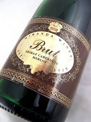 1996 circa NV MIRANDA CSM Brut Sparkling Red Isle of Wine