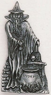 Ancient Magic  *Wizard* Large Pendant On Black Waxed Cord  Occult/Pagan
