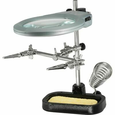 ZD10MB Helping Hand Soldering Stand With Magnifier & LED Light