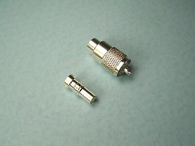 4 Silver Plated Teflon Uhf Pl-259 With Silver Plate Ug176 Reducers Rg8X Rg59