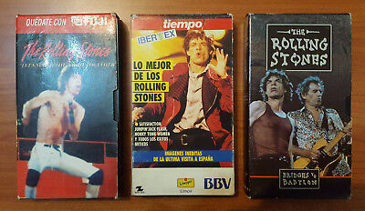 The Rolling Stones - Lot Of 3 Spanish Promo Vhs Videotapes / Richards - Jagger
