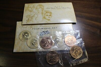 2007 U.S. Mint First Spouse Bronze Medal Series 4-Medal Set