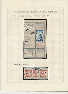 Slovenia, SHS 1919-26 collection! (letter, half stamps, Bill of delivery) #88