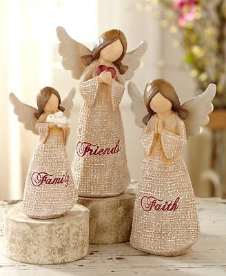 The Lakeside Collection 3-Pc Faith Family Friends Angel Figurine Set
