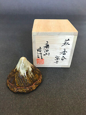 Mt. Fuji Kogo Incense Container for Japanese Tea Ceremony