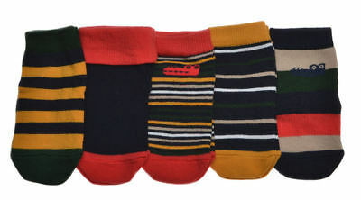 5 pairs of Baby Boys Socks Age 3-6 Months