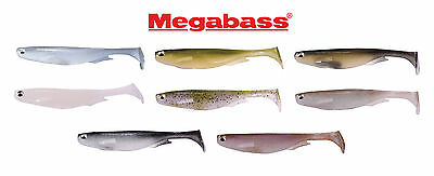 "Megabass Spark Shad Soft Body Paddle Tail Swimbait - 5"" (5 Pack) Fishing Lure"
