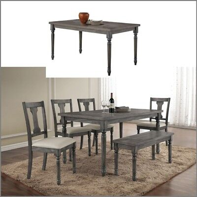 Rustic Dining Table Distressed Wood Farm House Kitchen