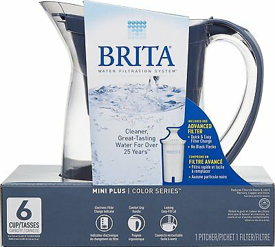brita water filter pitcher. Unique Water Brita Mini Plus Water Filtration Pitcher 6 Cup Charcoal Grey Inside Filter