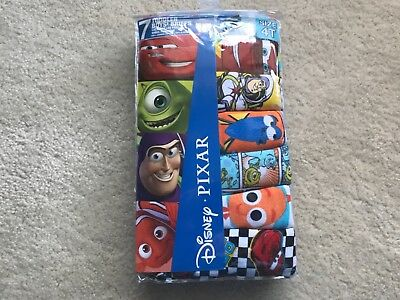 Boys Disney Pixar 7 pair Briefs Size 2T/3T and 4 T Available New