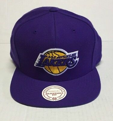 fb49a69d7 MITCHELL & NESS Snapback #nz979 Nba Los Angeles Lakers Wool Solid Purple