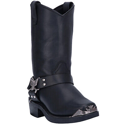7ceafb99325 DINGO MENS CHOPPER Western Cowboy Boots Harness Tr/Hr Leather Snoot Toe  Black