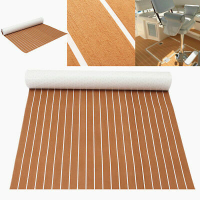47''x95'' Boat Decking Teak EVA Foam Marine Sheet Floor Mat Self-Adhesive 5mm