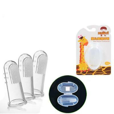 1pc Baby Finger Toothbrush Silicone Infant Teeth Clean Massage Brush ba#au