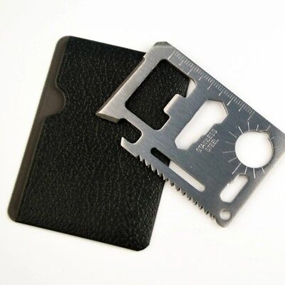 11-In-1 Credit Card Wallet Purse Pocket Multi Function Tool Survival Camping