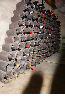 wine cellar rack pipes (chocolate brown terracotta) 150 available