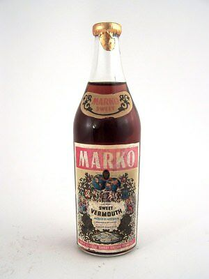 Miniature circa 1970 MARKO SWEET VERMOUTH by ANGOVES 3fl.ozs Isle of Wine