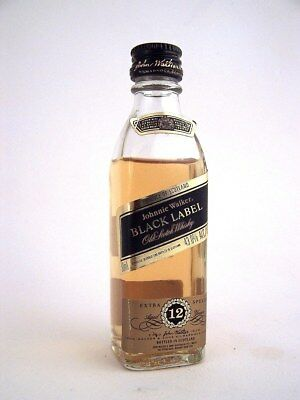 Miniature circa 1990 JOHNNIE WALKER BLACK LABEL Whisky 12yo Isle of Wine