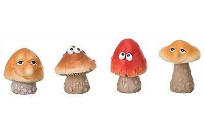 Miniature Fairy Garden Funny Mushroom Heads - Set of 4 - Buy 3 Save $5