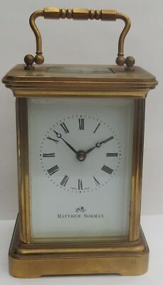 Superb Matthew Norman 8-Day Carriage Clock