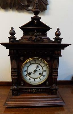 junghans walnut cased bracket clock c1900s