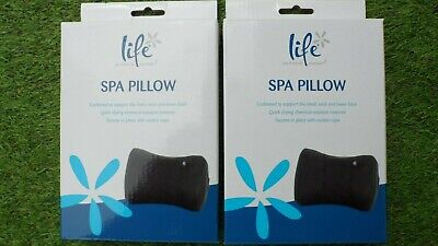 LIFE INFLATABLE SPA HOT TUB PILLOW SUEDE MATERIAL WITH SUCTION CUPS x 2