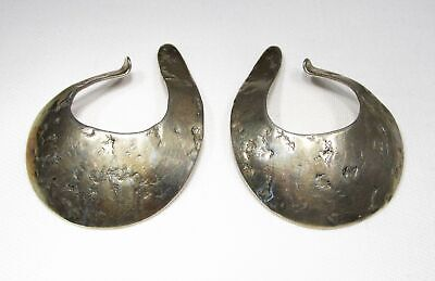 Sterling Silver Modernist Abstract Earrings Rolf & Andrea Ludding C1676