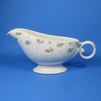 Harmony House MONTICELLO Footed Gravy Boat Made in USA by HALL