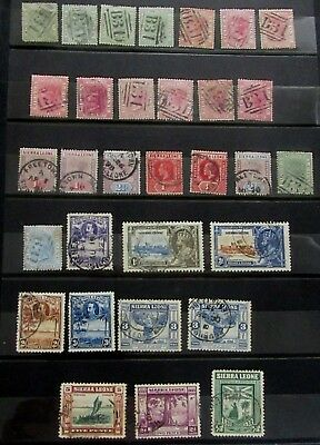 SIERRA LEONE British Colonies Old Stamps COLLECTION  - Used - Mostly VF- r3e4971