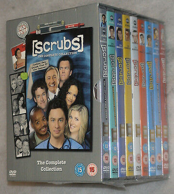 Scrubs - temporada 1,2, 3,4, 5,6, 7,8, 9 COMPLETO DVD BOX SET GB REGIÓN 2