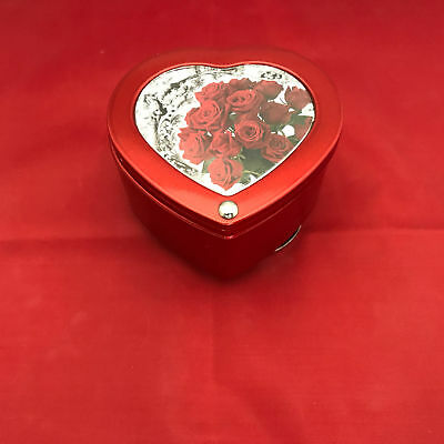 """Double Photo Frame Heart Revolving Music Box NEW Plays """"Unchained Melody"""""""