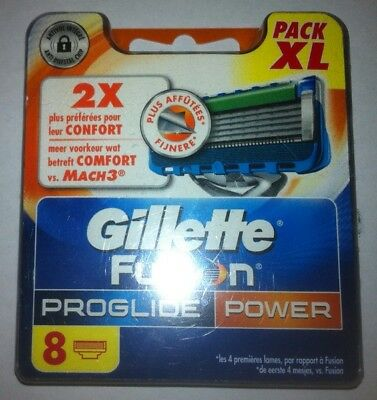 8 Lames Gillette Fusion Proglide Power