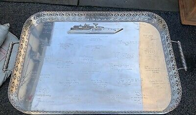 Important Bvlgari English Sterling Presentation Tray To Herbert Gallen 320 Oz