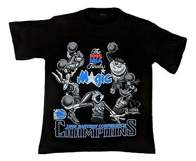 Vintage 1995 Orlando Magic Space Jam Looney Tunes Bugs Bunny T-Shirt NBA XL