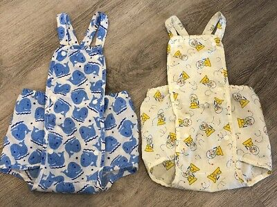Amazing Rare True Vintage Baby Sunsuit Outfits Set Rompers Whales Gumball 6-12 M
