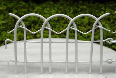 Miniature Dollhouse Fairy Garden White Wire Fence - Buy 3 Save $5