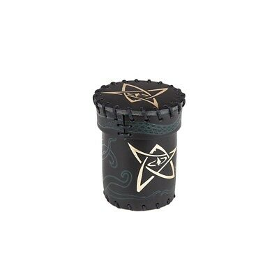 Call of Cthulhu Leather Dice Cup: Black/Green with Gold