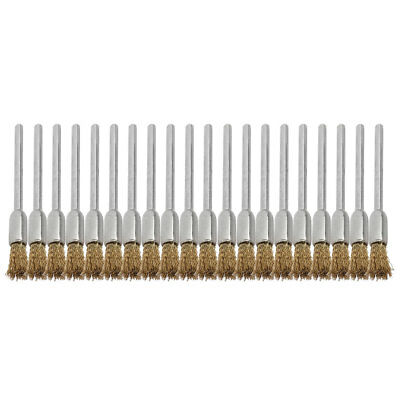 Family Stainless Steel Wire Rotary Cleaning Washing Tool Brush Gold Tone 20 Pcs