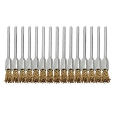 Home Stainless Steel Wire Rotary Cleaning Washing Tool Brush Gold Tone 15 Pcs