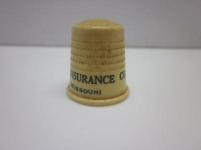 Celluloid Advertising Thimble, Reliable Life Insurance Co, St Louis, Missouri MO