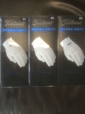 3 x Titleist Perma Soft Gloves   Large  Size  Brand New