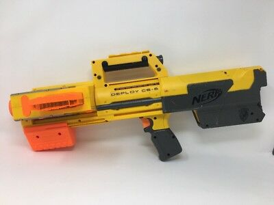 Nerf N-Strike Deploy CS-6 Yellow Tactical red laser light w/ ammo clip B52