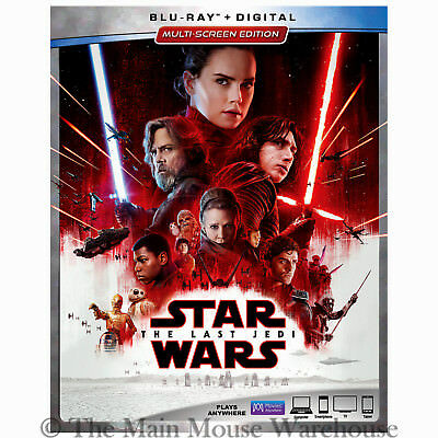 Star Wars Episode 8 VIII The Last Jedi Blu-ray and Digital Copy with Slipcover