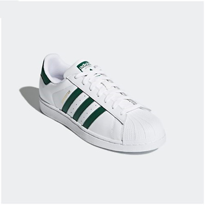 outlet store 06c7f b30d3 NEW ADIDAS ORIGINAL Mens SUPERSTAR WHITE / GREEN CM8081 US M 7-10 TAKSE AU