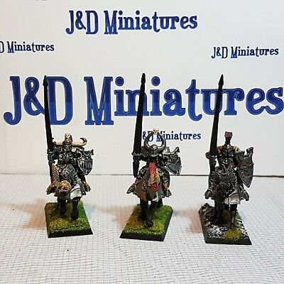 Games Workshop Warhammer Fantasy Battle Warriors of Chaos Knights Painted  Lot 2