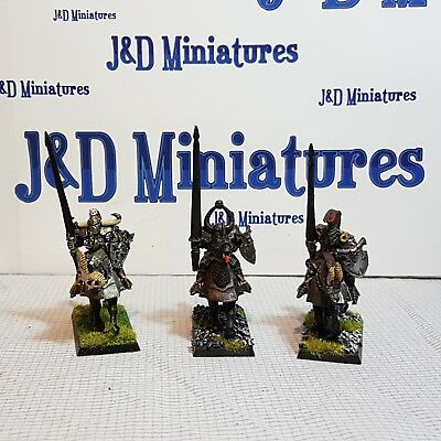 Games Workshop Warhammer Fantasy Battle Warriors of Chaos Knights Painted  Lot 3