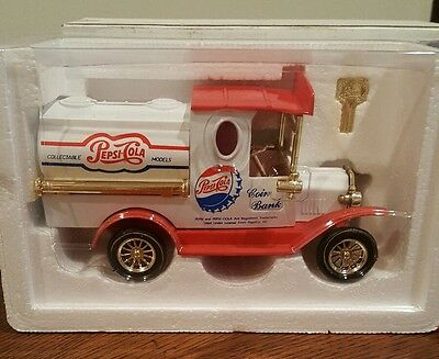 Pepsi Cola Diecast Truck Coin Bank Collectible