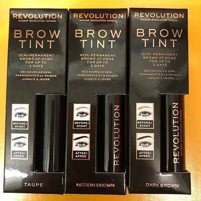 *NEW* Makeup Revolution Brow Tint Semi Permanent Eyebrows 6ml Boxed - UK Seller